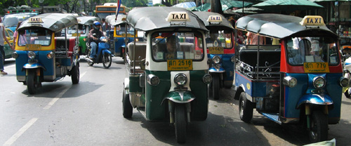 Tuk-tuk taxis in Bangkok